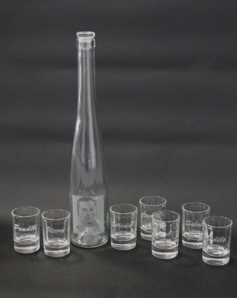Gravírovaná láhev na slivovici