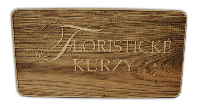 3D logo Floristické kurzy dřevěné