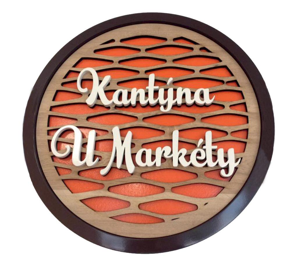 3D Logo kantýna dřevěné