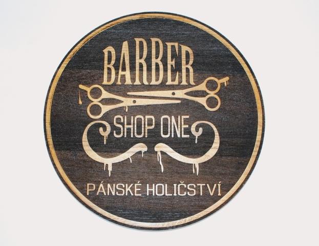 Barber 3D logo dřevěné Ø55cm