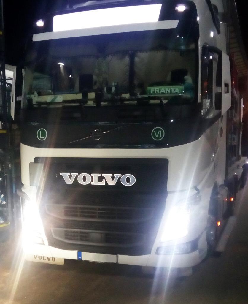 LED 3D nápis na kamion