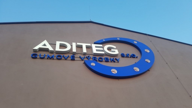 Detail 3D LED logo